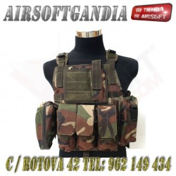 Chaleco Plate carrier Marpat Woodland