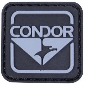 CONDOR 18001-002 Emblem PVC Patches Black/Grey (10 Pcs)