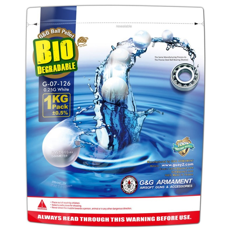 G&G Bio BB 0.25g / 1KG Aluminum Foil (White) / G-07-126