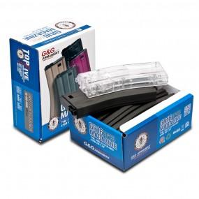 G&G 120R Mid-Cap Magazine GR16 (Tan) 5pcs+420R BB Loader G-08-125-1