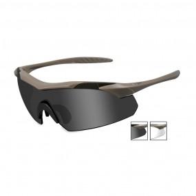 WILEY X PT-1 Smoke Grey/Clear/Light Rush Matte Black Frame