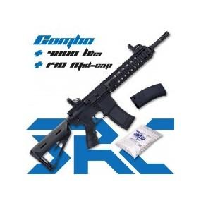 Fusil SR4 ST DELTA Sport Line Black AEG - 6 mm COMBO + 4000 Bbs + 140 Mid-cap