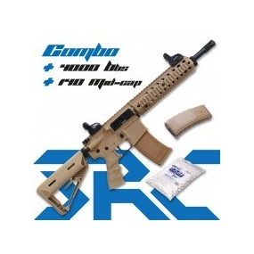 Fusil SR4 ST DELTA Sport Line Desert AEG - 6 mm COMBO + 4000 Bbs + 140 Mid-cap
