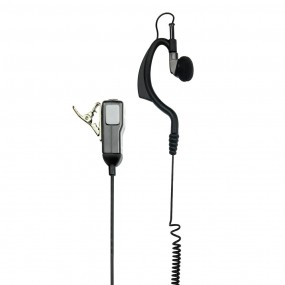 MA21-LK PTT Microphone - Curly Cable - 2 pin - Kenwood