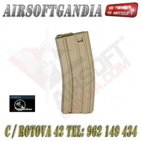 ASG Pack 10 Cargador color Tan M16 de ABS 85 Bolas