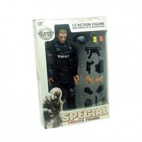 Soldado Special Force SWAT Negro