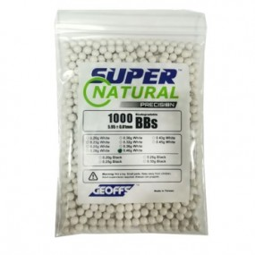 BOLAS GEOFFS BIO SUPER NATURAL 1000UND 0.40G BLANCA