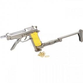 Maqueta Pistola M93R Blackcat - Plata