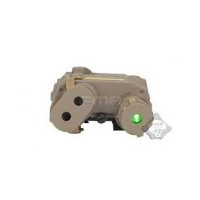 AN-PEQ 15 Laser Verde y Linterna Tan FMA