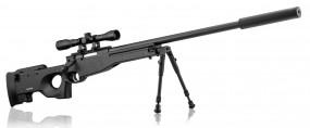 Pack Sniper tipo AW308 + Visor 4 x 32 + Bipode + Silenciador