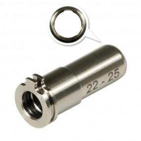 CNC Titanium Adjustable Air Seal Nozzle 19mm - 22mm For AEG Series MAXX MODEL