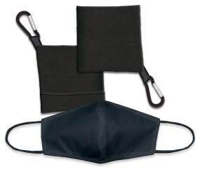 Kit Portamascarilla negro + Accesorio Facial negro