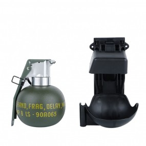 DUMMY M67 GRENADE SET WITH MOLLE MOUNT BLACK WOSPORT