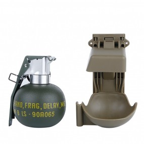 WOSPORT DUMMY M67 GRENADE SET WITH MOLLE MOUNT TAN