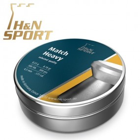 Balines H&N Match Heavy - 0,53g lata 500 unid. 4,50mm