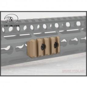Rail corto para Keymod tan
