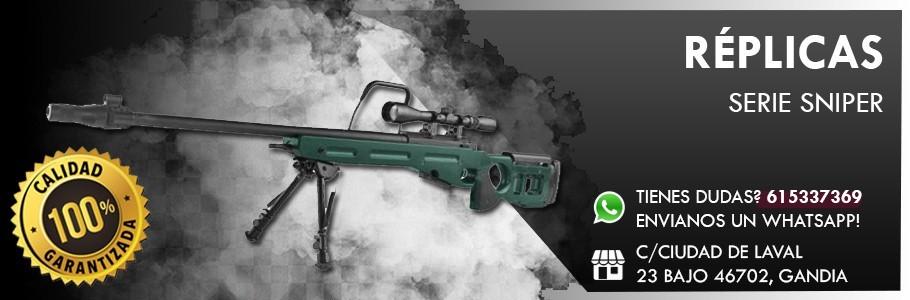 Replicas/Marcadoras airsoft serie Sniper